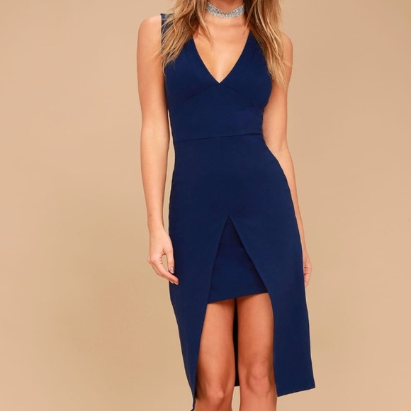 Lulu's Dresses & Skirts - Navy high low dress